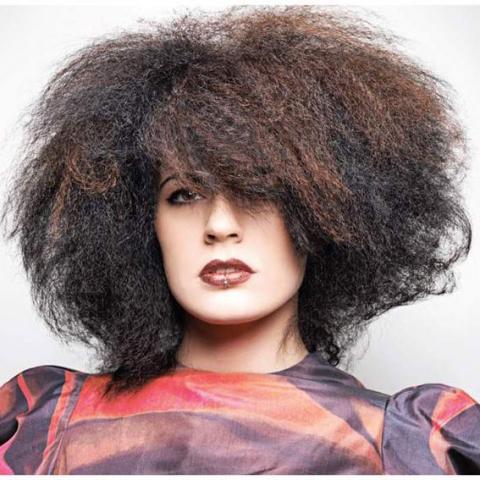 Ladies crimped hair style