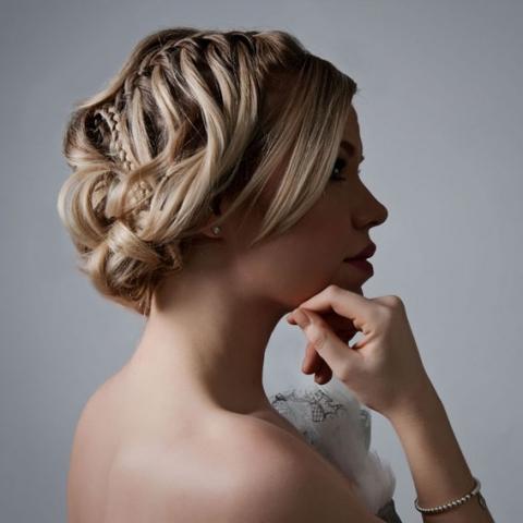 wedding hair up style