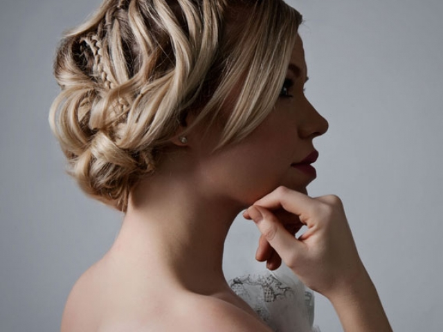 wedding hair up style