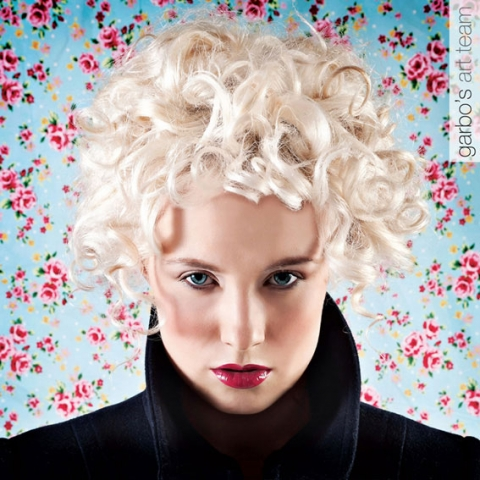 Cool blonde curls by our art team