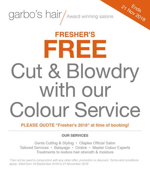 freshers hair colour offer
