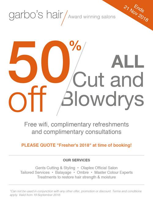 freshers hair promotion